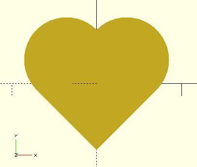愛心置中不置中? 愛心置中不置中? 回 OpenSCAD 目錄 愛心置中不置中? 在〈布林運算與